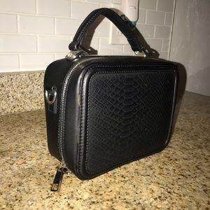 black aldo bucket bag